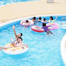 流水プールの写真